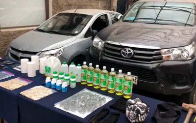 Desbaratan centro de evacuación y acopio de drogas en Graneros