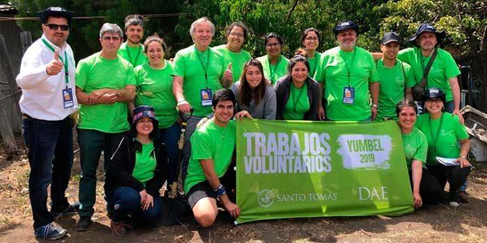 Estudiantes rancagüinos realizaron voluntariado en Yumbel
