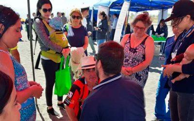 Hospital Pichilemu realiza educación en RCP en la playa