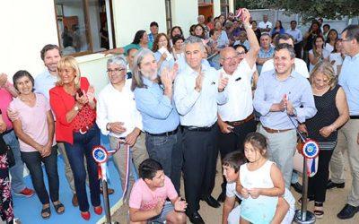 Inauguran 2 sedes comunitarias y nueva multicancha en San Vicente