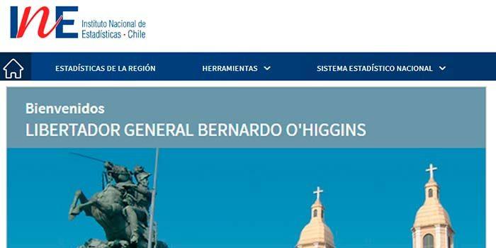 INE actualiza su portal web de la Región de O'Higgins