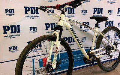 PDI detiene a sujeto especialista en el robo de bicicletas en Rancagua