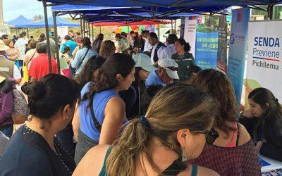 Senda previene participa en Primera Plaza ciudadana en Pichilemu