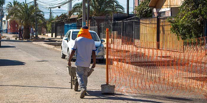 Trabajos de consolidación de calle Los Olivos presentan un 70% de avance