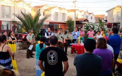 Vecinos de la Villa Santa Blanca de Rancagua se reúnen en torno a la seguridad
