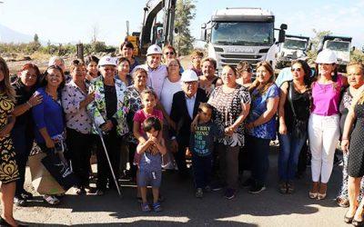 Dan inicio a obras de apertura Av. La Victoria que mejorará conectividad en sector oriente de Rancagua