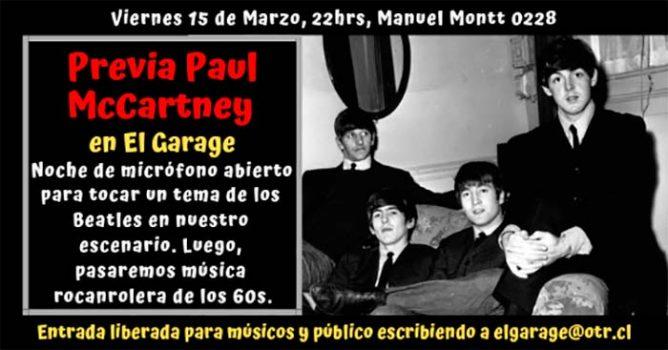 Previa Paul McCartney: micrófono abierto en El Garage, Rancagua