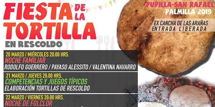 Primera gran fiesta de la tortilla en rescoldo se realiza en Palmilla