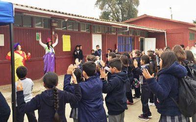 Senda Previene Pichilemu da inicio al año escolar en Escuela digna Camilo