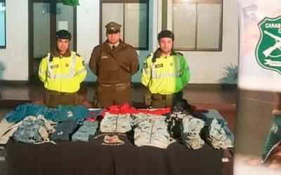 carabineros Detenidos sujetos tras robar tienda Ripley de Rancagua