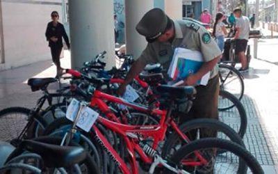 En Rancagua carabineros previene el robo de bicicletas