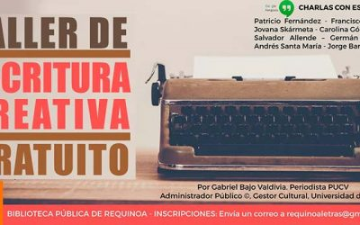 En Requínoa dictarán taller gratuito de escritura creativa