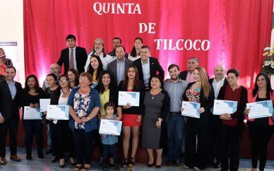 Entregan de 137 subsidios habitacionales en Quinta de Tilcoco