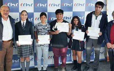 Hijos e hijas de trabajadores de la construcción fueron reconocidos por la CChC por su rendimiento académico