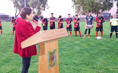 Inaugurado torneo oficial de fútbol de la liga El Huique