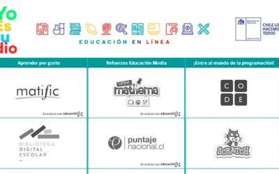 Mineduc lanza portal para reforzar asignaturas fuera de las salas de clases