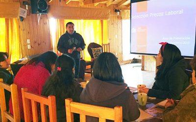 Senda Previene Pichilemu realiza capacitación sobre temática de prevención de alcohol y drogas en el mundo laboral
