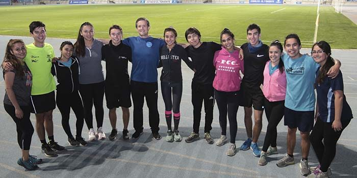 Academia de Running de la Universidad de OHiggins se prepara para su primera corrida 2019