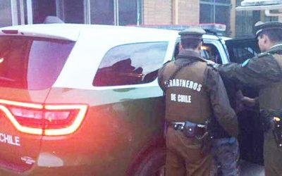 Carabineros detuvo a un sujeto con amplio prontuario policial