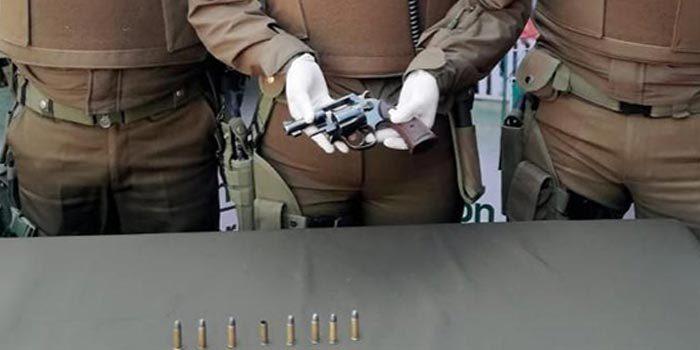 Carabineros detuvo a un sujeto por tenencia ilegal de arma de fuego y munición