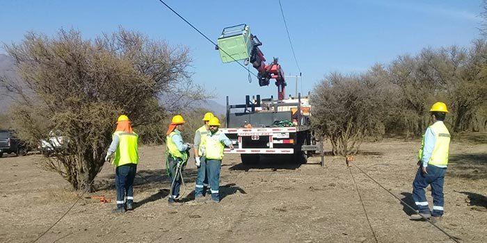Casi una tonelada de cables eléctricos fueron sustraídos en Malloa