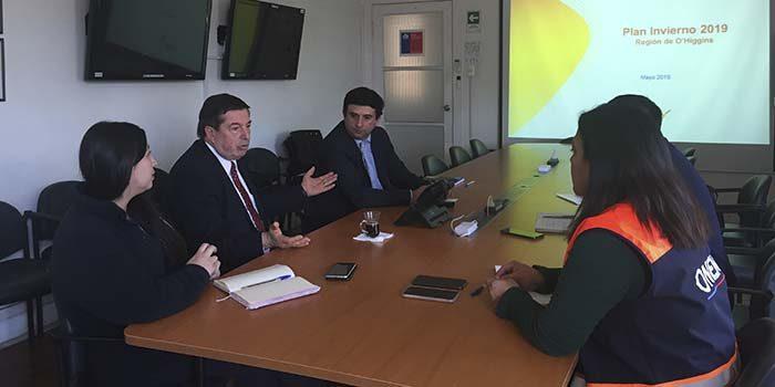 CGE presenta ejes de trabajo del Plan de Invierno 2019 a autoridades