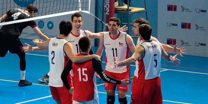 Chile y Portugal encendieron con vóleibol la fría noche rancagüina