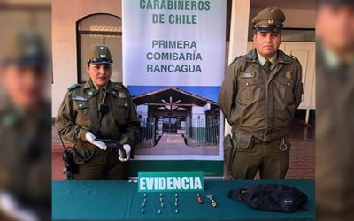 Carabineros permite detención de un menor de edad por tenencia ilegal de arma de fuego
