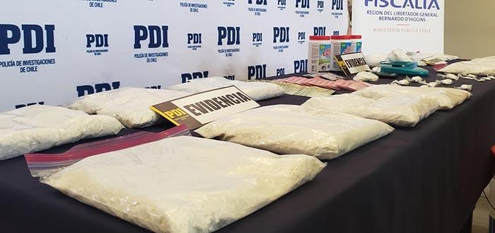 PDI desbarata laboratorio clandestino de drogas en Rancagua