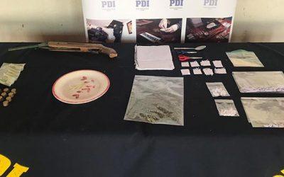 PDI detiene a clan familiar dedicado microtráfico de drogas en Santa Cruz