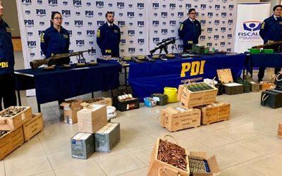 PDI Rancagua logra histórico decomiso de armas y munición