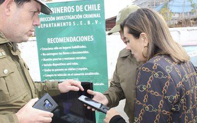 Tecnología de última generación utiliza Carabineros de Chile para encontrar los vehículos robados