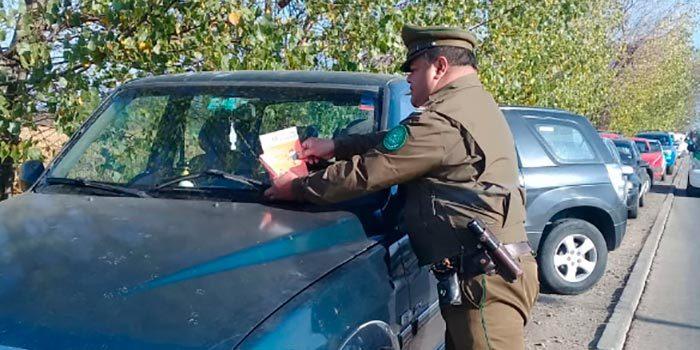 Carabineros llama a prevenir el robo de especies desde el interior de vehículos