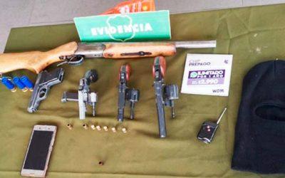 Cuatro detenidos por porte de armas en San Francisco de Mostazal