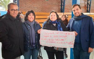 Diputado Soto y senadora Yasna Provoste entregan apoyo a profesores movilizados en la región