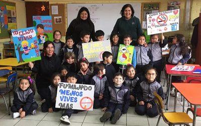 Equipo Senda Previene se suma a la celebración por el Día Mundial Sin Tabaco en Pichilemu