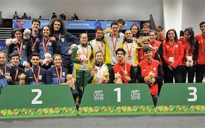 Esgrimistas del Promesas Chile se suben al podio en el Sudamericano de Lima