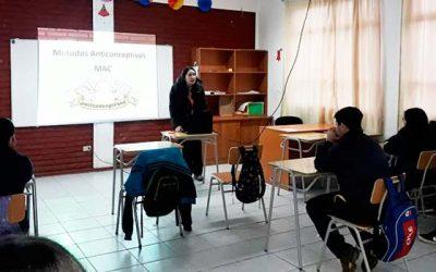 Hospital Pichilemu realiza charlas de salud sexual y reproductiva a colegios