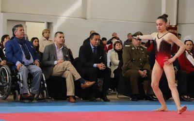Intendente inaugura el nuevo gimnasio Polideportivo Oriente de Rengo