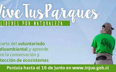 Invitan a jóvenes de la Región a postular a la nueva versión Vive Tus Parques