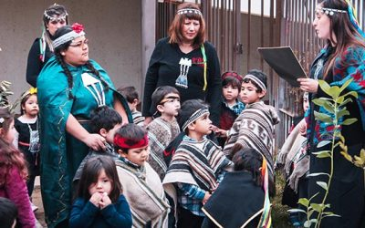Niños del jardín infantil del Hospital Regional celebran Año Nuevo Mapuche