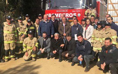 Bienes Nacionales entrega terreno fiscal para bomberos de Cáhuil