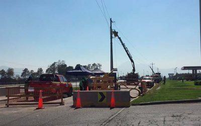 CGE finalizó traslado de línea de transmisión por ampliación de Ruta 5 Sur