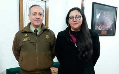 Coordinadora regional de Seguridad Pública entrega apoyo y solidaridad a mando zonal de Carabineros