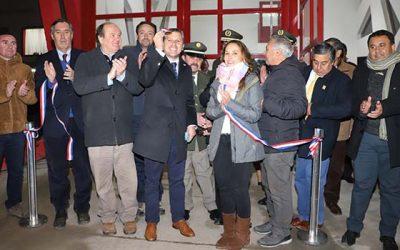 Inauguran nuevo cuartel de Bomberos de la Quinta Compañía de Cunaco