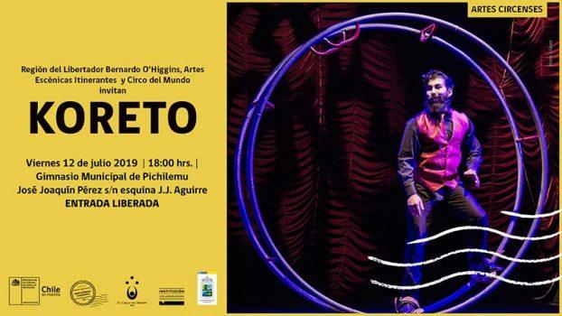 """Koreto, la magia continúa"" llega a Pichilemu, gracias al programa Artes Escénicas Itinerantes del Ministerio de las Culturas"