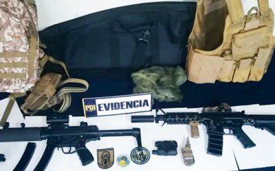 PDI detiene a dos personas que intentaban vender réplicas de armas robadas por redes sociales