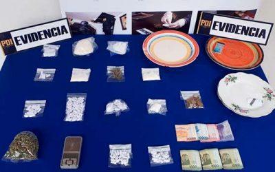 PDI incauta drogas y detiene a siete personas en tres domicilios de Nancagua