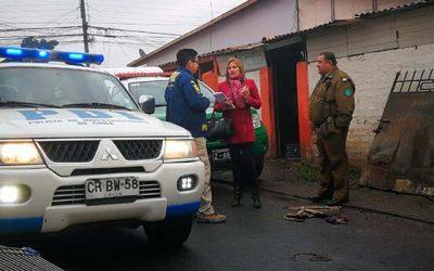 PDI investiga muerte en incendio de adulto mayor de 81 años en Rancagua