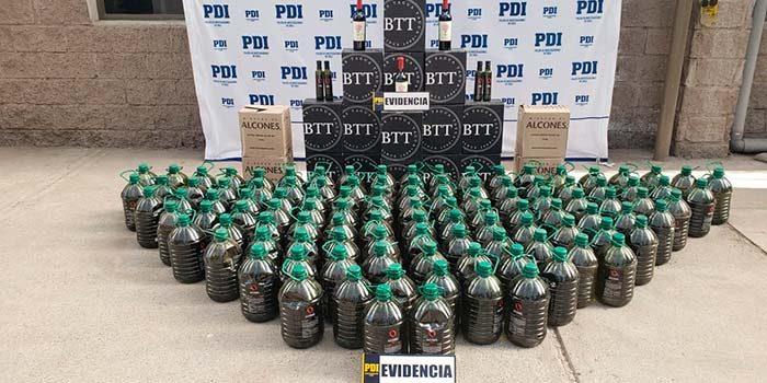 PDI recupera aceite de oliva robado a un fundo de Marchigüe